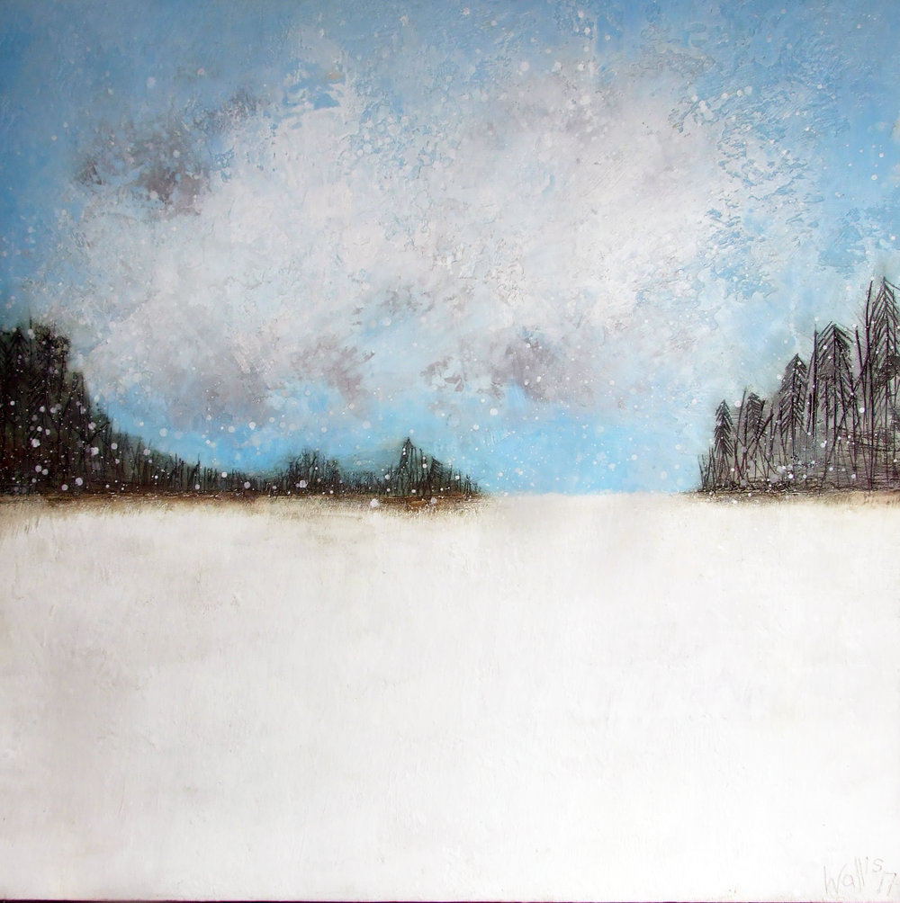 "COLD BLUE SKIES 48""X48"""