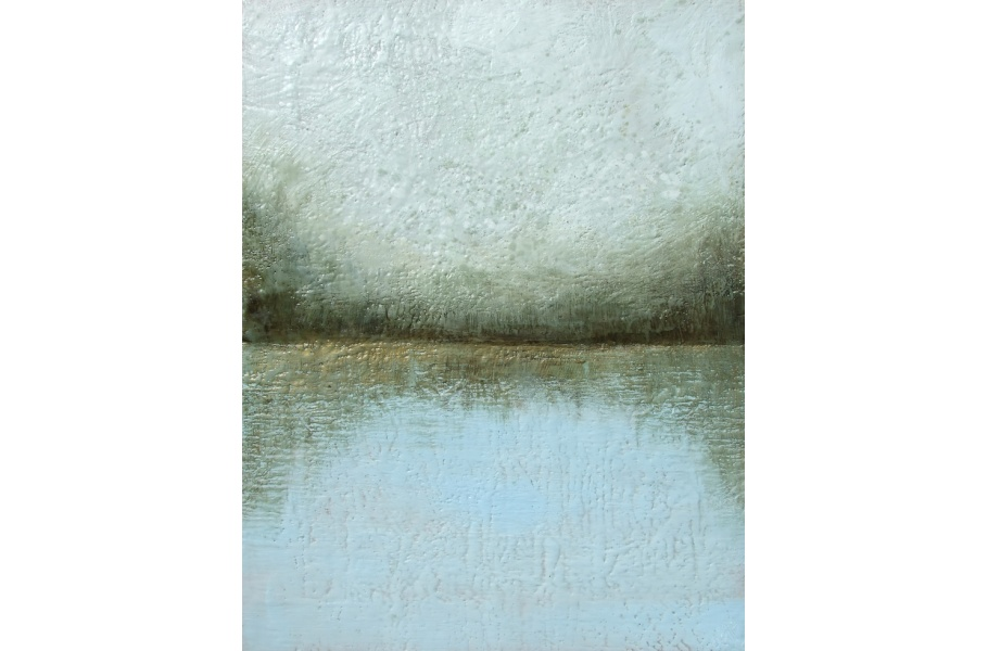 lake encaustic painting