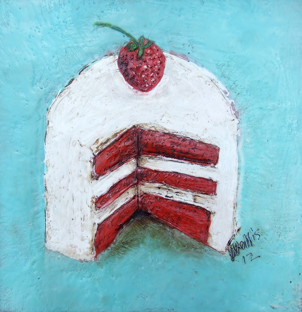 "let's have our cake and eat it too  10"" x10""  $425   location: Coffee Nook"