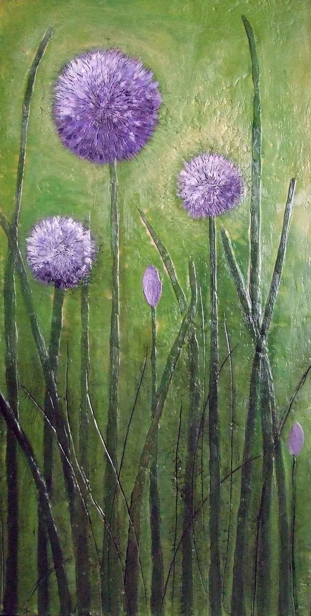 In the Secret Garden 18x36 2011 encaustic art susan wallis