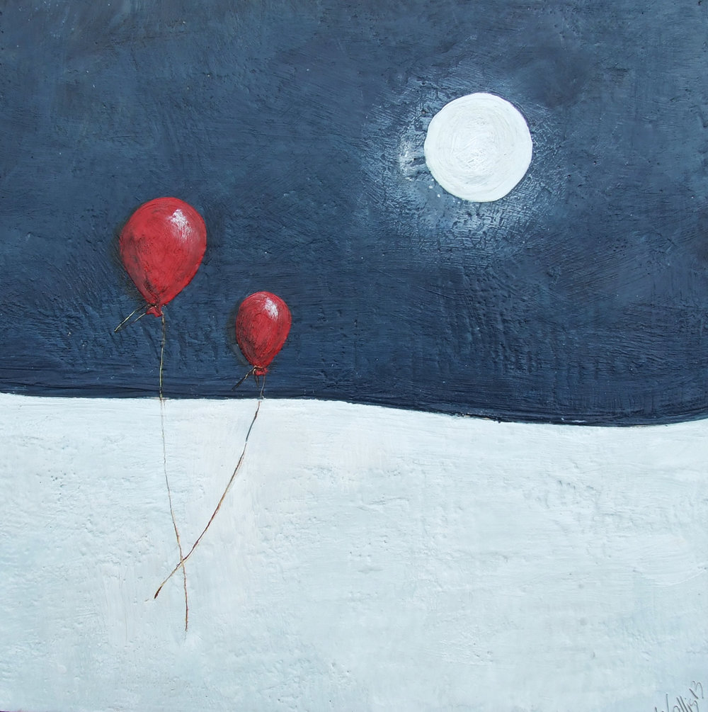 Moonlighting 24x24 2013 encaustic art susan wallis