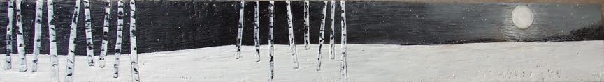 Moonscape 48x6 encaustic art