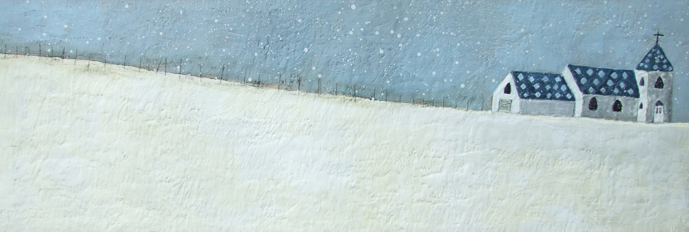 Silent Night 72x24 encaustic art