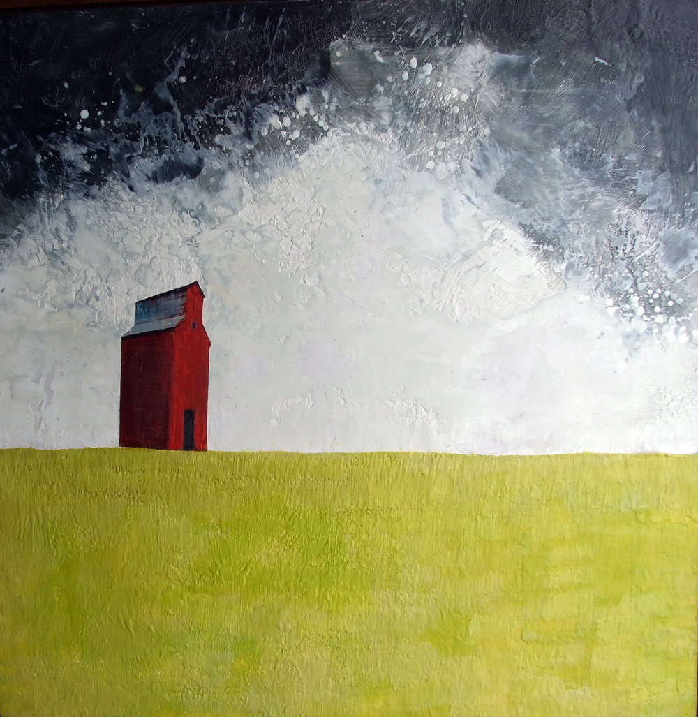 """upon brilliant fields 36""""x36""""  SOLD"""