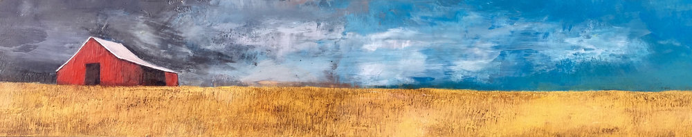 """the day's ending 48""""x10"""""""