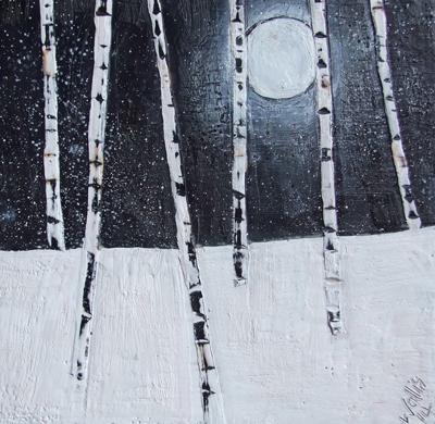 "moon watching 12""x12"""