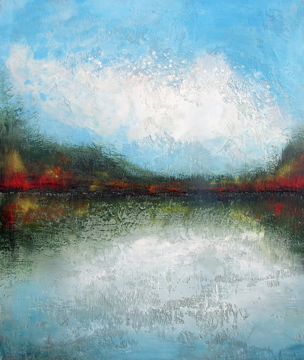 "autumn reflections i 30""x36"""