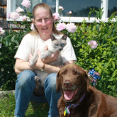 Karen - Karen is a Licensed Veterinary Technician, having been graduated from the University of Maine at Orono in 1984. Karen joined the team in 1986 and then again in 1994.  She lives on the family homestead in Woodland with her daughters and their two cats