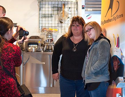 Clark Service Group employee, Wendy Scheuerman, gets to know her mentee, Alexis, from Conestoga Valley High School.