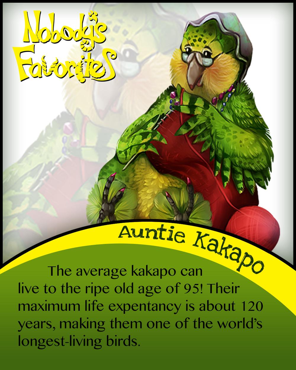 Auntie Kakapo Fact 2