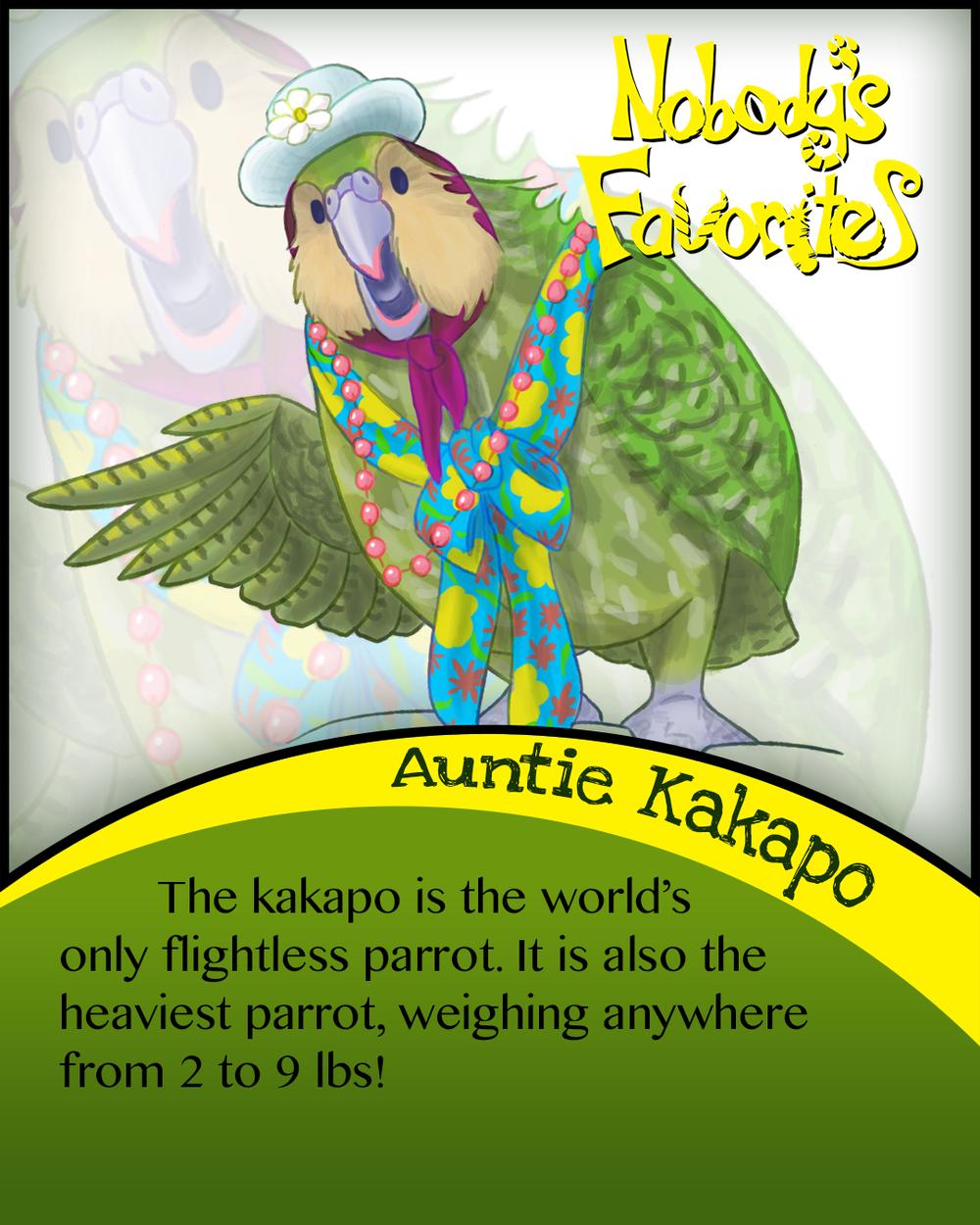 Auntie Kakapo Fact 1