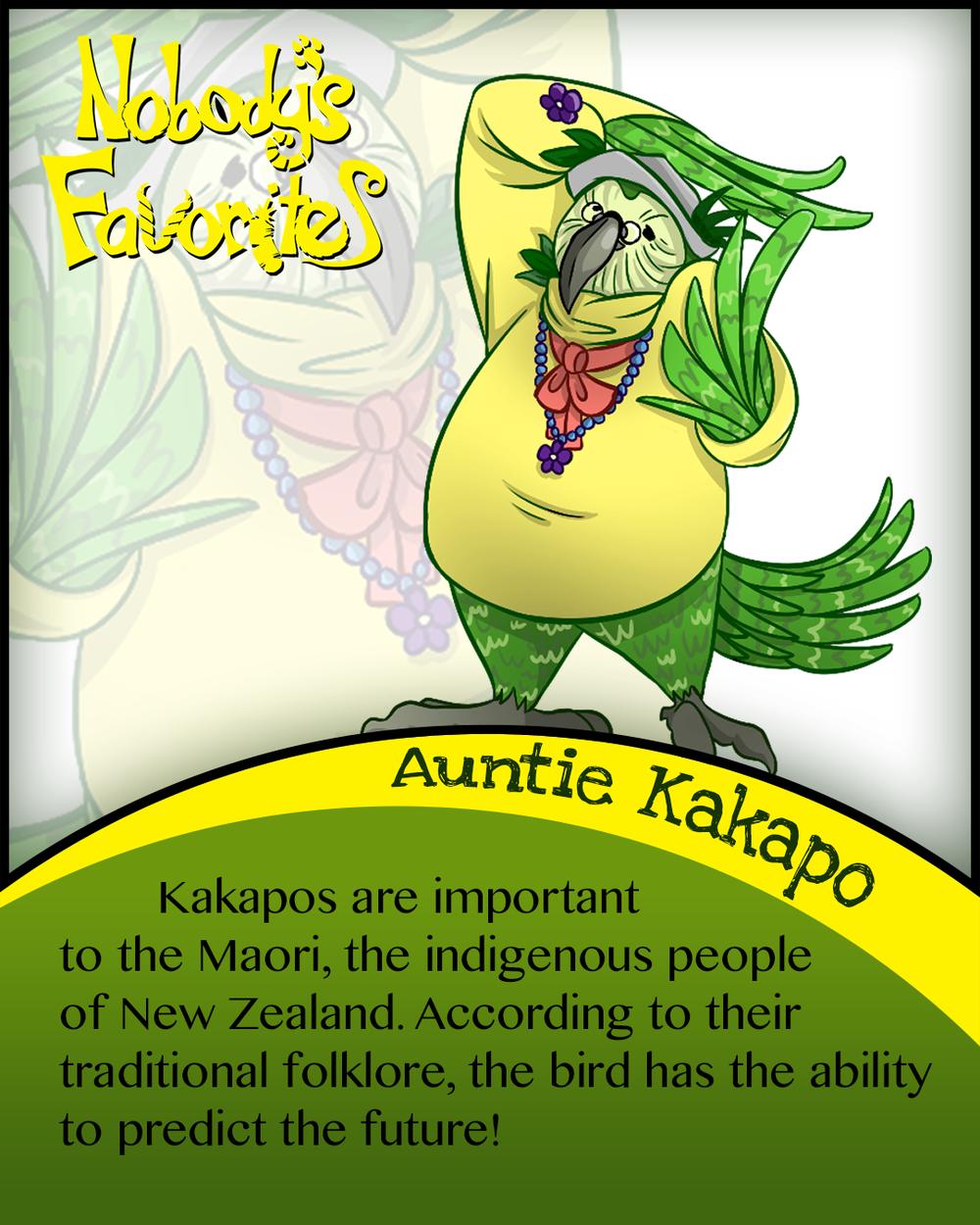 Auntie Kakapo Fact 3