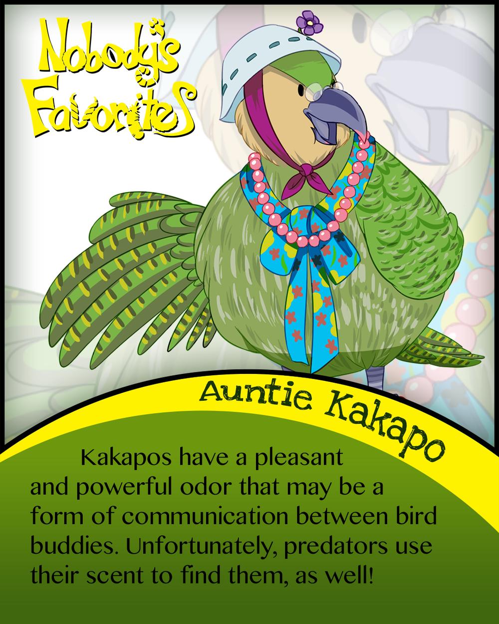 Auntie Kakapo Fact 4