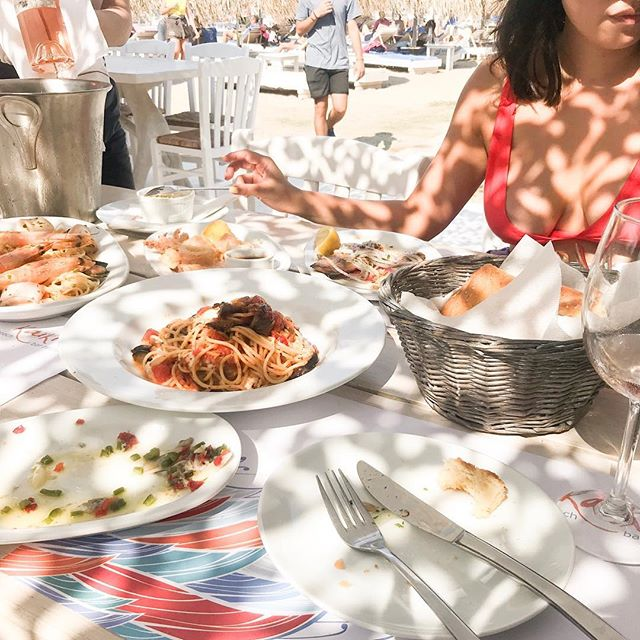 Feast for the senses! Reminiscing the fresh seafood, 9pm sunsets and amazing company. ✨ // a Greek summer,  2018.