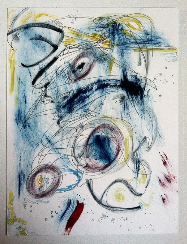 Restless Space, Mixed Media on Paper