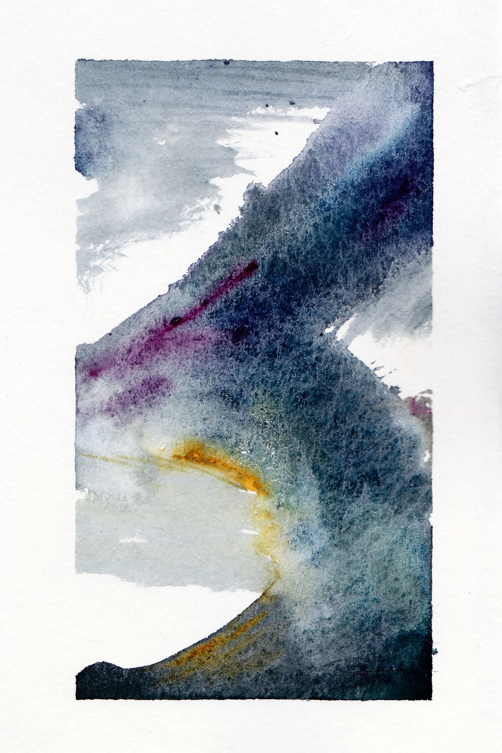 "Symbol 1. | Watercolor on Paper | 4"" x 6"""