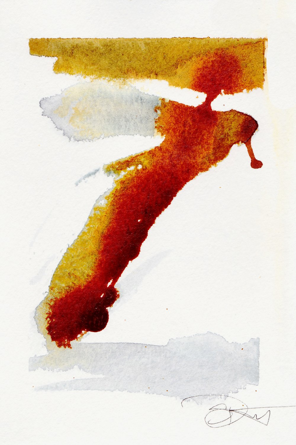 "Symbol 2. | Watercolor, Acrylic on Paper | 4"" x 6"""