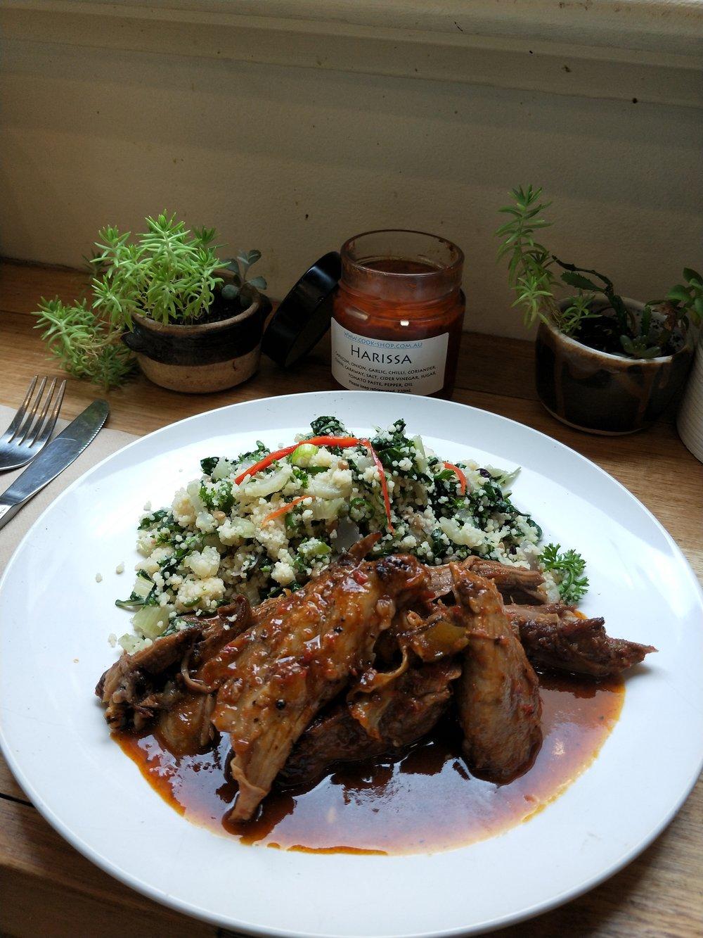 Meat Special Harissa Spiced Goat w/ Tabbouli