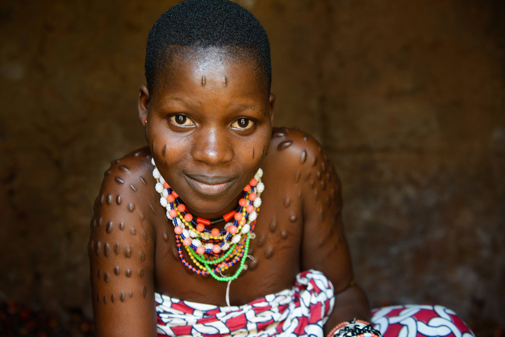 Scarification in the tribes of northern Benin