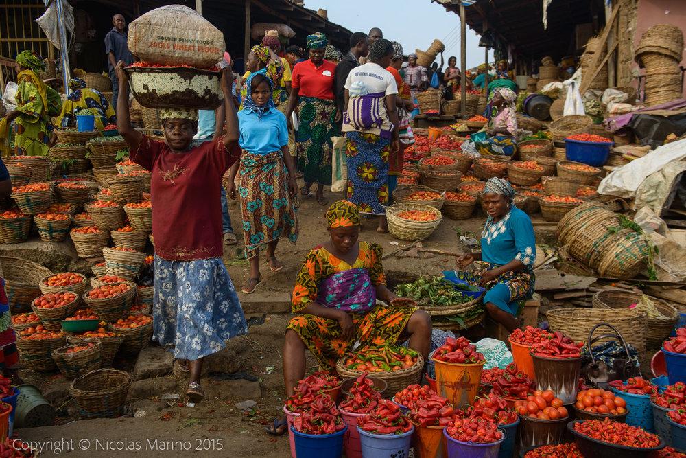 Street market. Ibadan. Nigeria