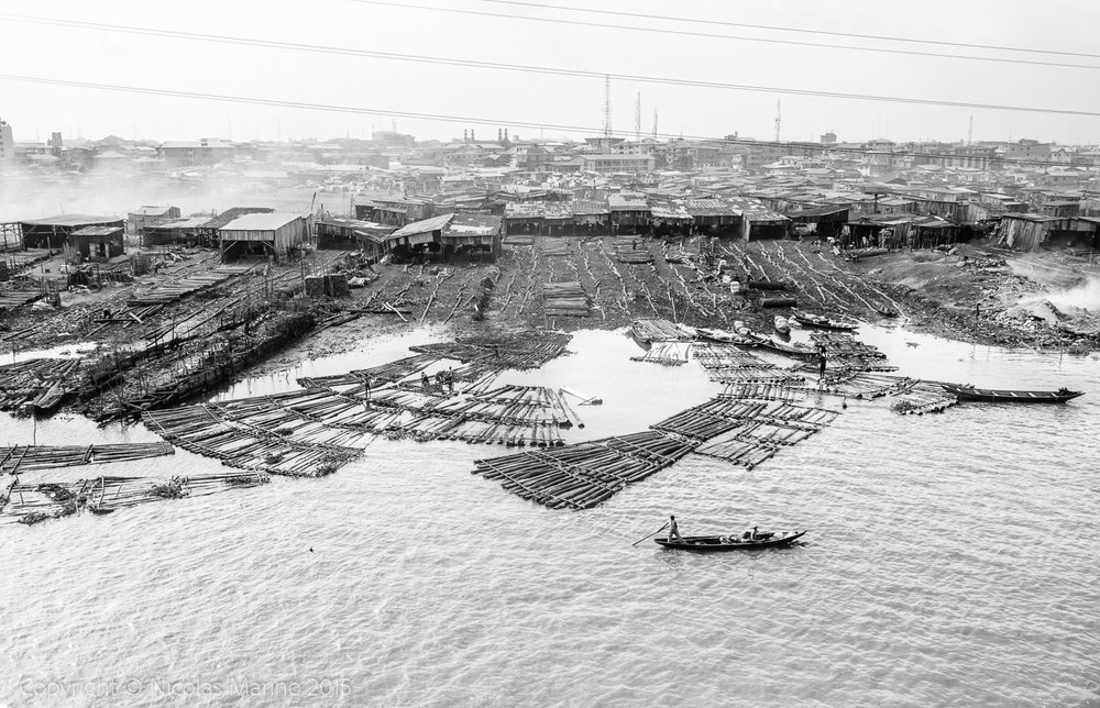 The floating slums of Lagos. Nigeria