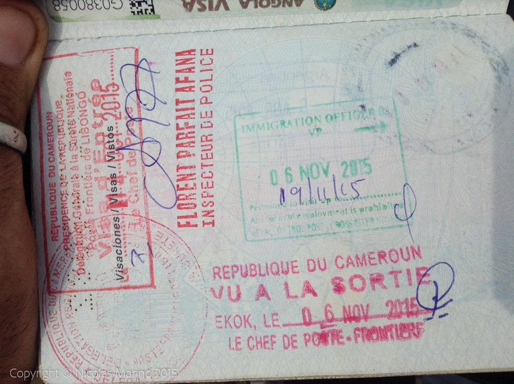Sello original con salida indicada para el 19/11 (sello verde)
