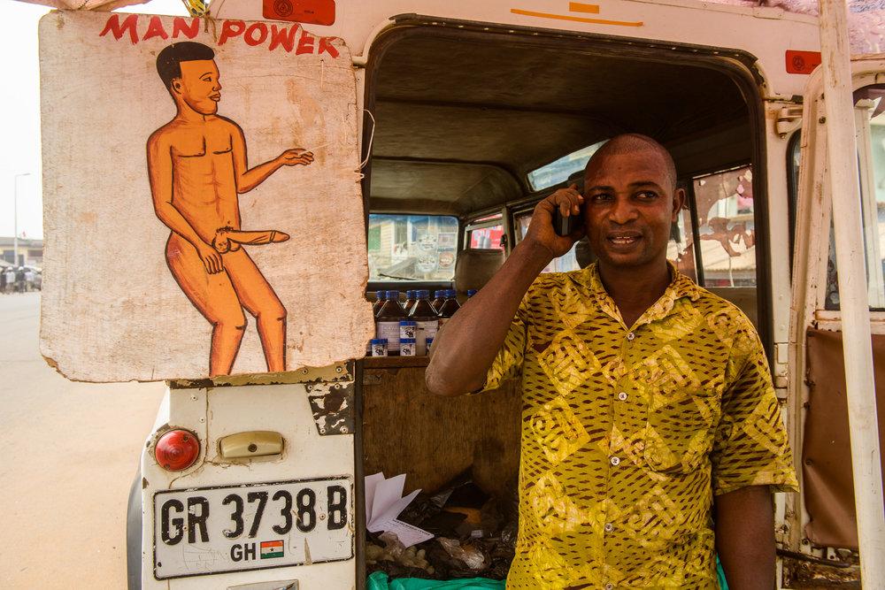 Herbal medicine for all purposes. Ghana