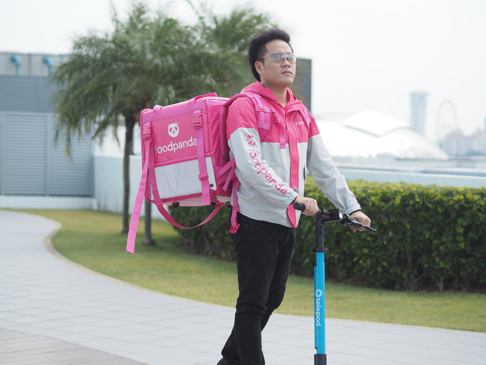SCOOTING A NEW PATH: Telepod breaks silence with a revolutionary twist to the sharing industry; A Battery Distribution Network with Foodpanda.    Photo Credit: Telepod