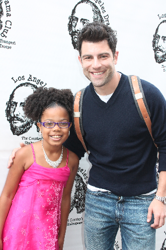 Mma-Syrai and Max Greenfield on the red carpet