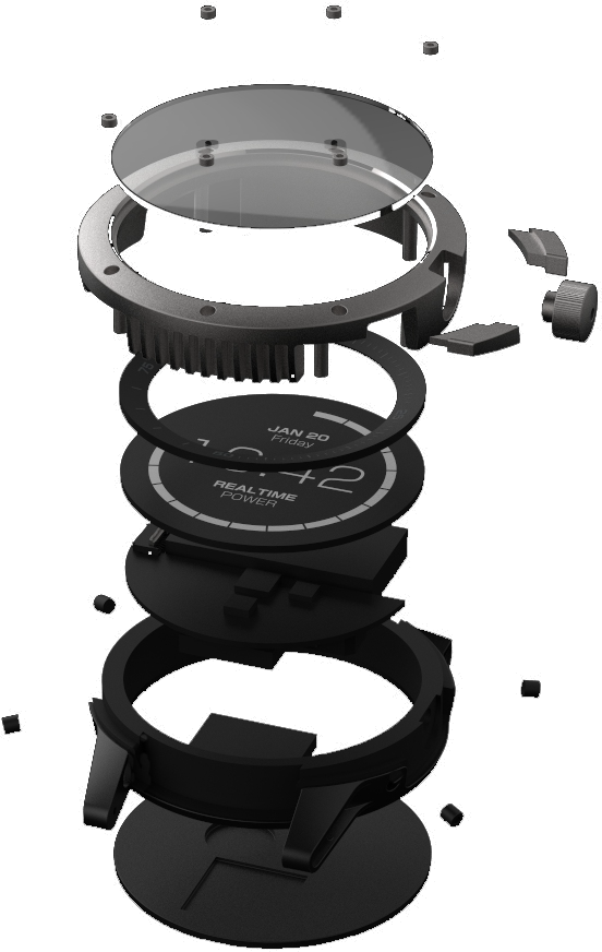 Exploded view of Matrix PowerWatch