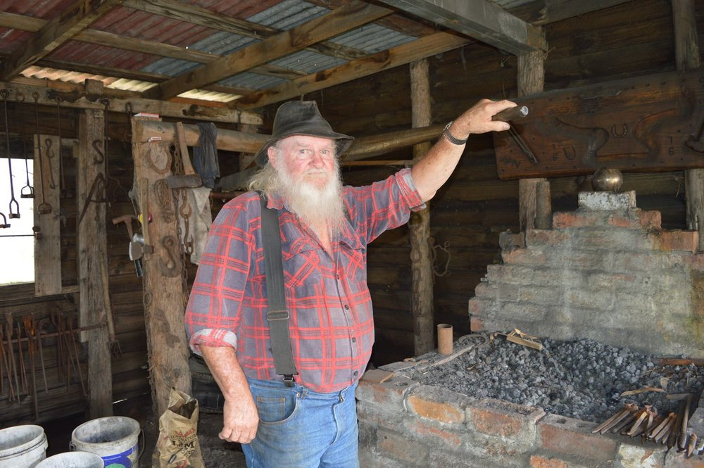Local blacksmith Bill Cain.