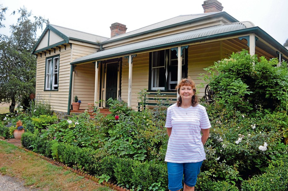 • Sally Lethborg outside her home, which stands on a farm that's been in her family for four generations.