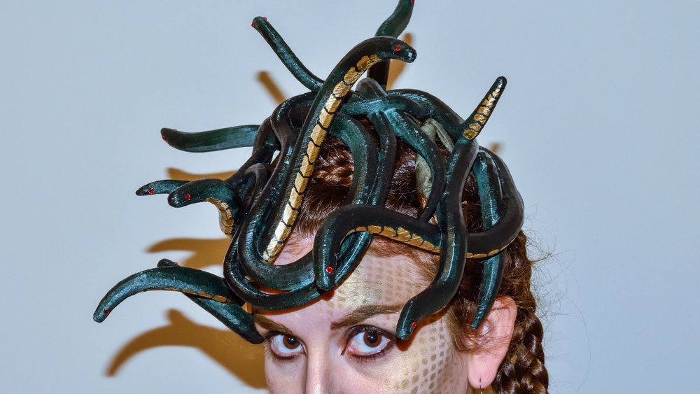 Medusa Headdress - Sculpted in VR. Printed in 3D. Totally Awesome!