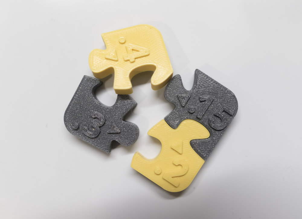 I designed this '3D Printer Tolerance Test Puzzle' to decide on the best clearance between pieces for my 3D puzzles. For my CR-10s, I found 0.3mm to be a good clearance that held the puzzle firmly together without making it too difficult to assemble.