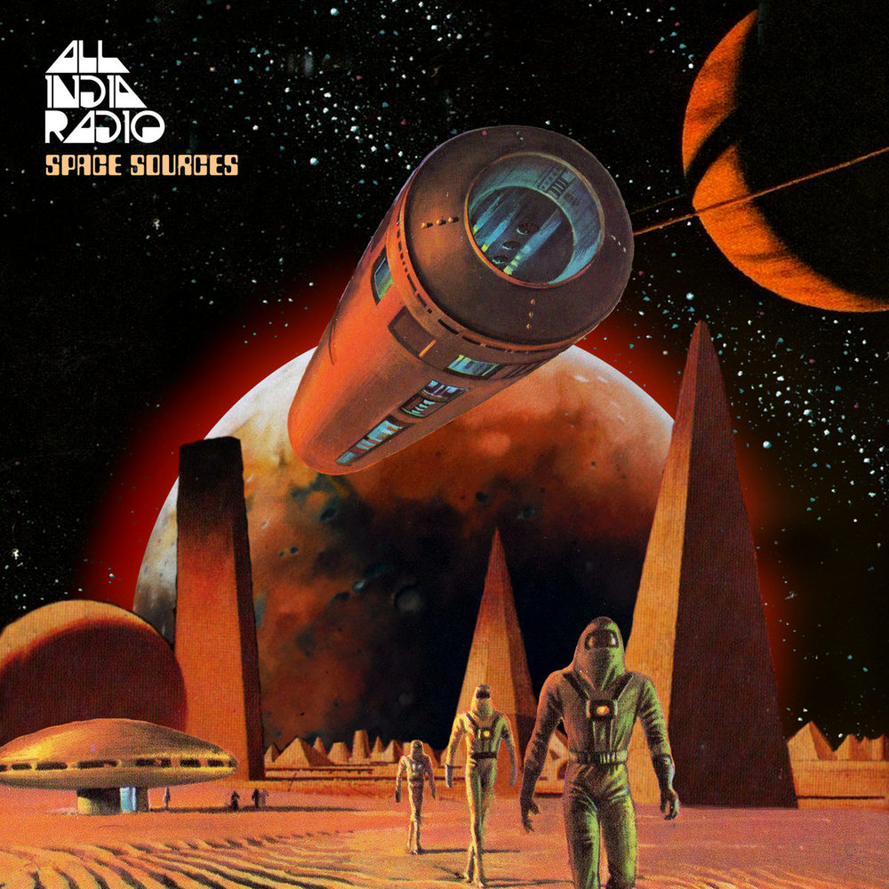 SPACE SOURCES (2018) features many of the source sounds from the Space album, presented as a long megamix of glitchy soundscapes, samples from early works, ambient background washes, 1980s synth samples, and dusty radio sounds, intertwined with pedal steel guitar by Graham Lee (The KLF 'Chill Out ')