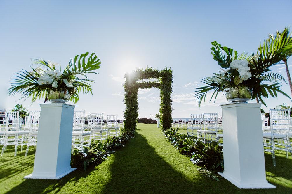 Wedding decor. Photo courtesy of  Modern Milestones Photography