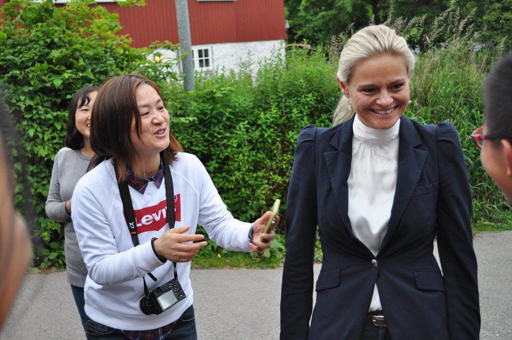 Øll vildu snakka við borgastjóran í Havn, Anniku Olsen.Mynd: torshavn.fo