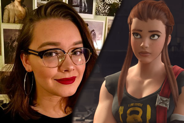 Matilda Smedius leggur rødd til figurin Birgitte Lindholm í Overwatch. Foto: Blizzard