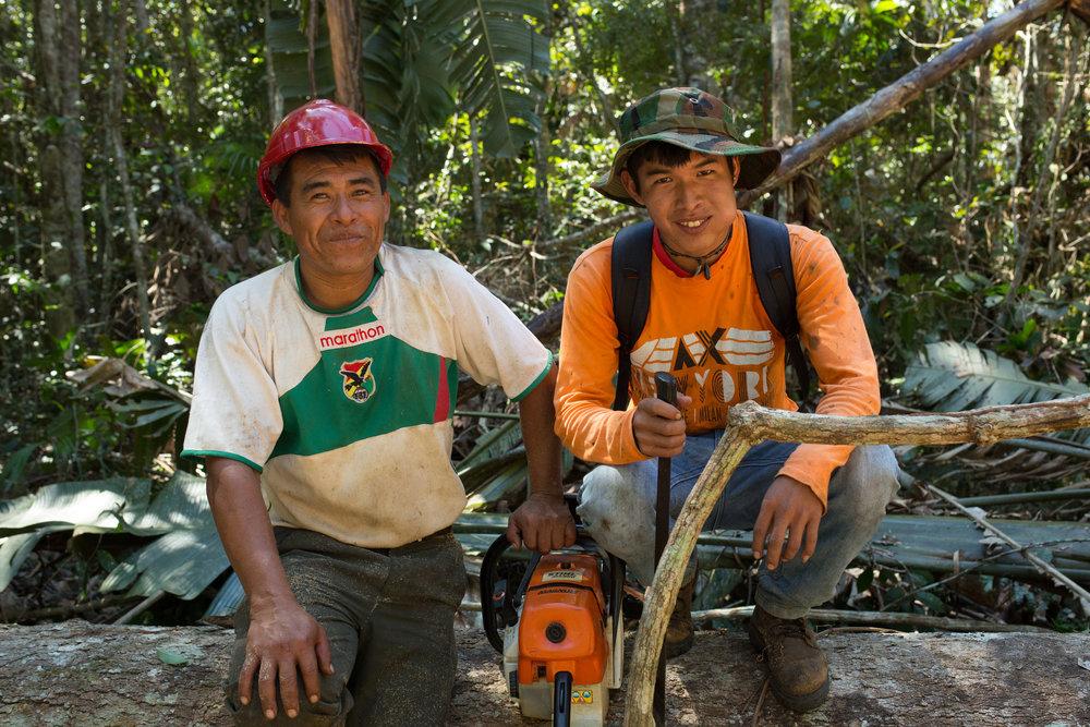 Bolivianske FSC-skovarbejdere