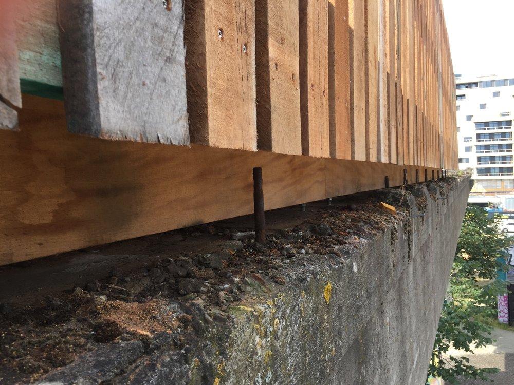 Underkonstruktionen af Kulbro View, der er bygget i Louro Vermelho, Piquia, Azobé, Bilinga og Uchi Torrado.