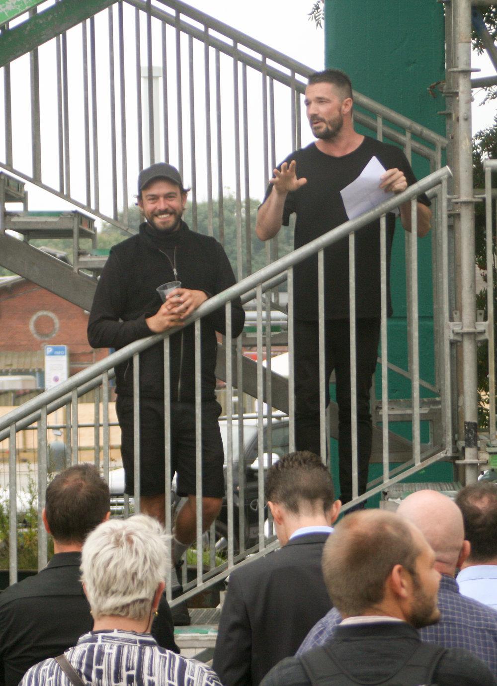 Tale ved Martin Thim Tømmergaard og Daniel Walsh, Kulbroens Venner