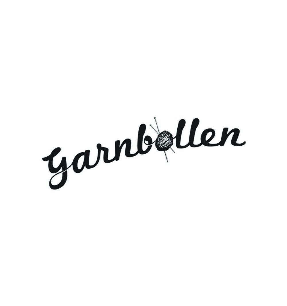 Logotyp för stickningsbutiken Garnbollen.