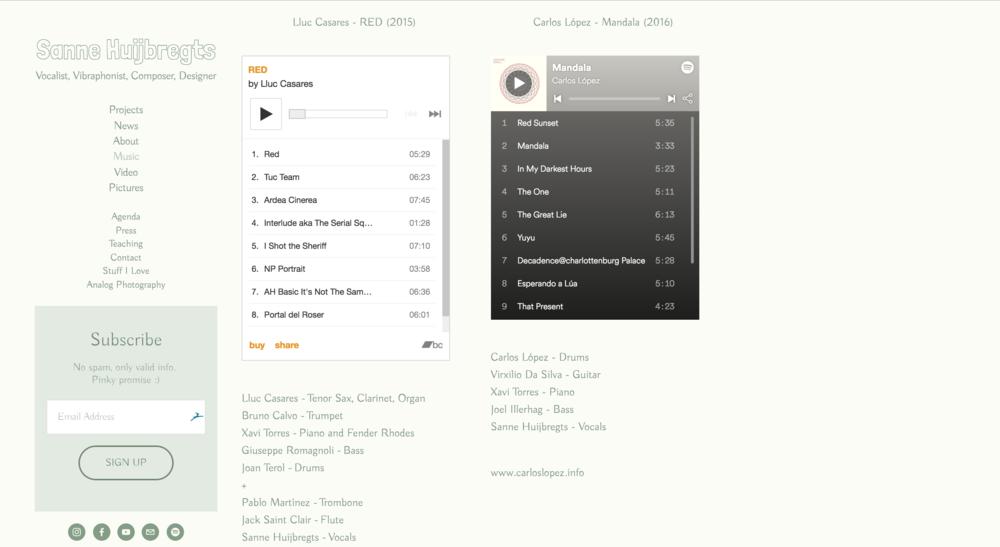 Spotify & Bandcamp Plugins
