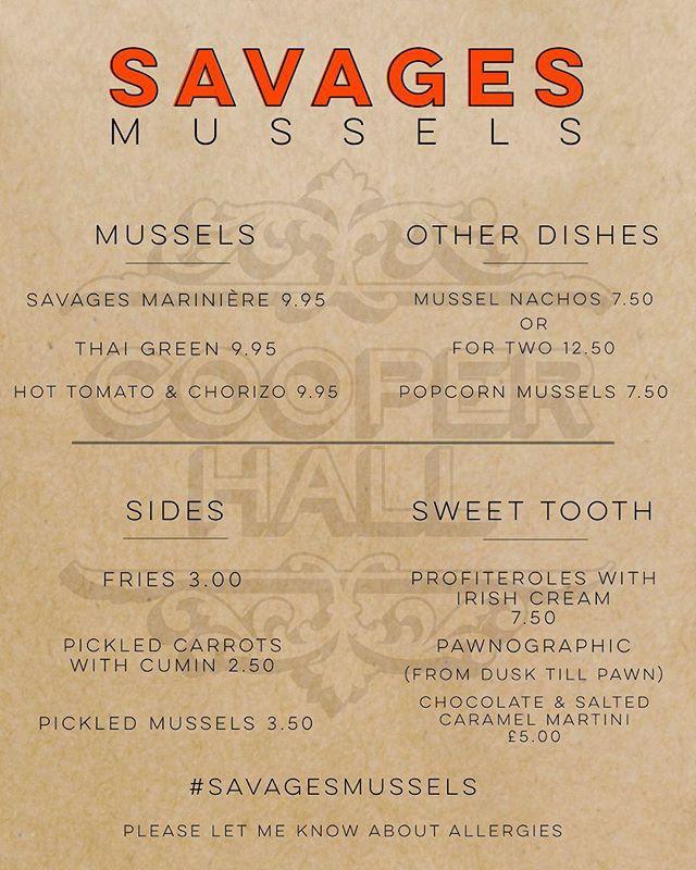 jamie@savagesmussels.com for bookings