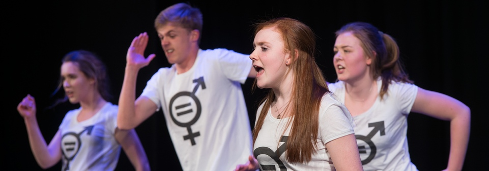 GCSE students nominated for Best New Writing for their play 'Sexism'