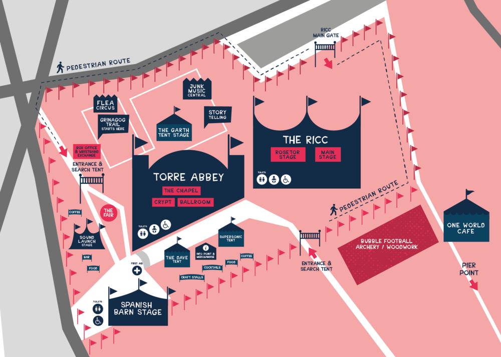 Grinagog Festival Map, Torbay Culture, The Shorely
