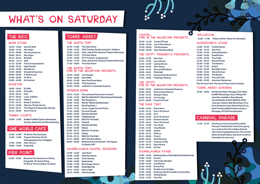 Grinagog Festival, Saturday What's On, Torbay Culture, The Shorely
