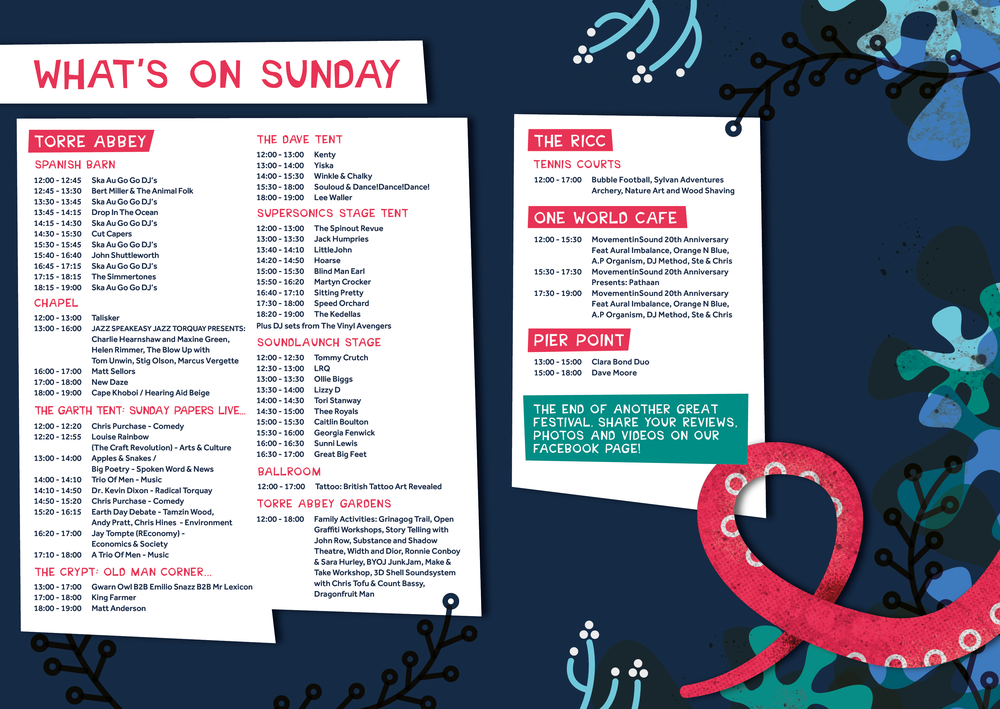 Grinagog Festival, Sunday What's On, Torbay Culture, The Shorely