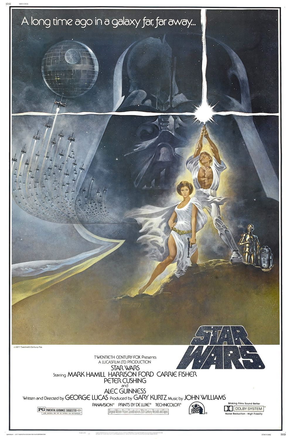 1977 Star Wars movie poster