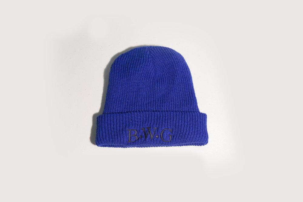 Classic BWG Royal Blue Beanie Hat — BWG Lifestyle Club 36b0f55bf96